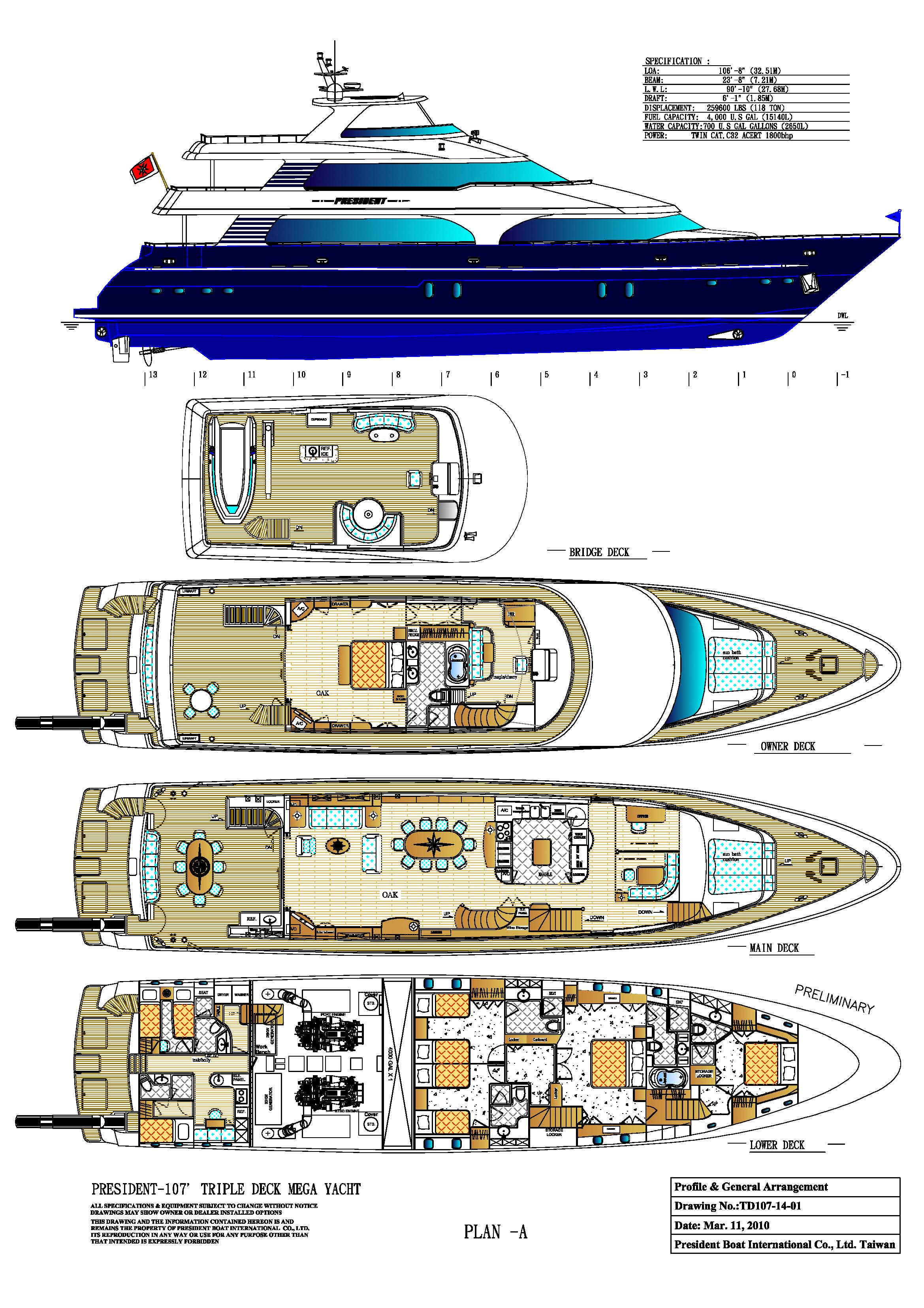 Boats and yachts for sale for Deck plans for sale